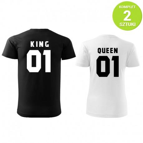 King and Queen B&W komplet koszulek z nadrukiem