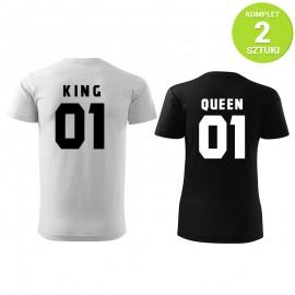 King and Queen W&B komplet koszulek z nadrukiem