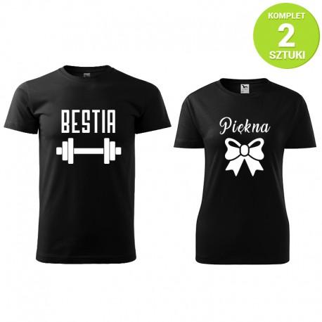 Piękna i Bestia komplet koszulek z nadrukiem