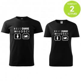 Miłość motocyklistów komplet koszulek z nadrukiem