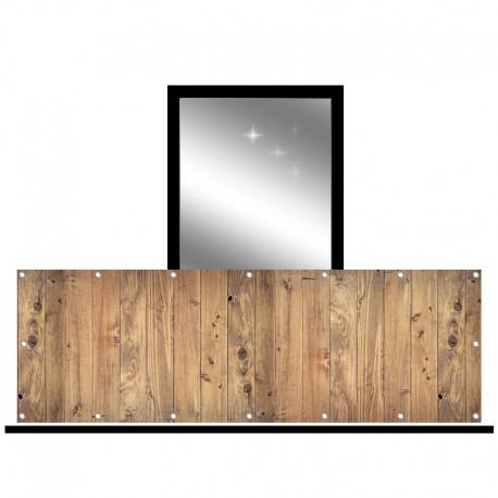 Osłona balkonowa jednostronna - dechy pionowe