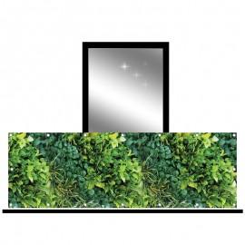 Osłona balkonowa jednostronna - zielony ogród