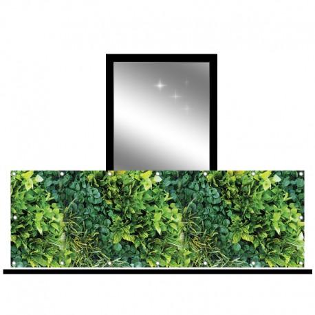 Osłona balkonowa jednostronna -zielony ogród