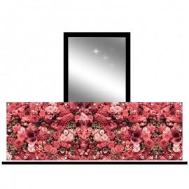 Osłona balkonowa jednostronna - eleganckie kwiaty