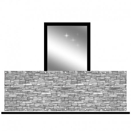 Osłona balkonowa jednostronna - szara cegła