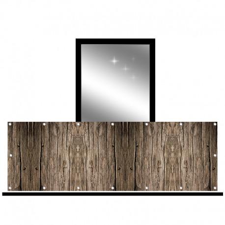 Osłona balkonowa siatka - stare drewno