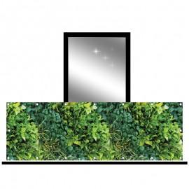 Osłona balkonowa siatka - zielony ogród