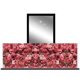 Osłona balkonowa siatka - eleganckie kwiaty