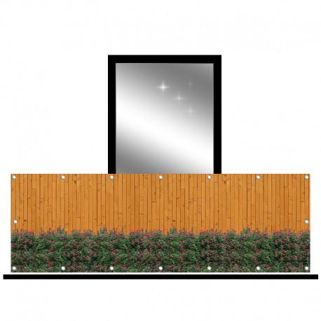 Osłona balkonowa jednostronna - rozyczki