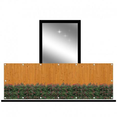 Osłona balkonowa siatka - rozyczki