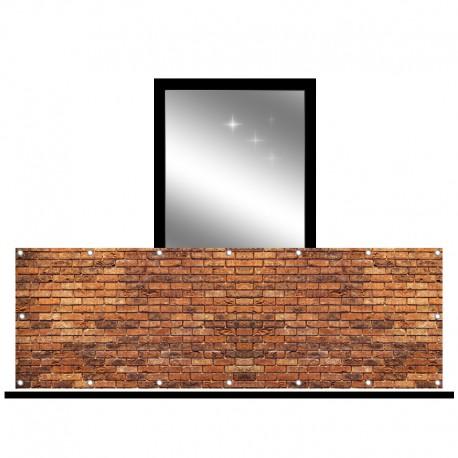 Osłona balkonowa siatka - cegła