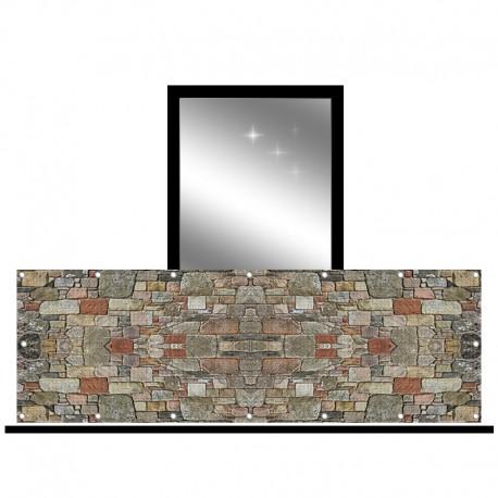 Osłona balkonowa siatka - kamień