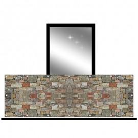 Osłona balkonowa jednostronna - kamień