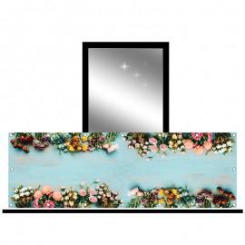 Osłona balkonowa jednostronna - kwiaty kolorowe
