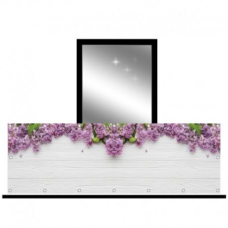 Osłona balkonowa jednostronna - fioletowy bez