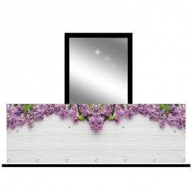 Osłona balkonowa siatka - fioletowy bez
