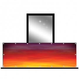 Osłona balkonowa jednostronna - zachód słońca