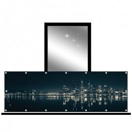 Osłona balkonowa siatka - miasto nocą