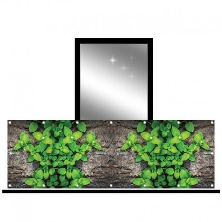 Osłona balkonowa siatka - liście
