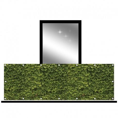Osłona balkonowa jednostronna - bluszcz