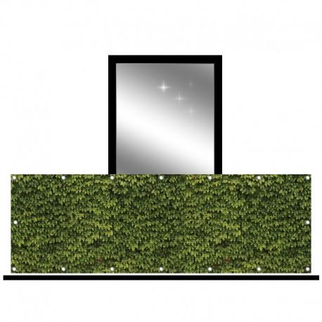 Osłona balkonowa siatka - bluszcz