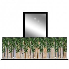 Osłona balkonowa siatka - zwisające liście