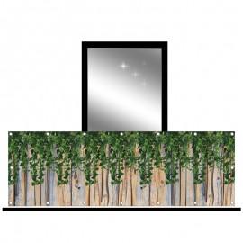 Osłona balkonowa jednostronna - zwisające liście