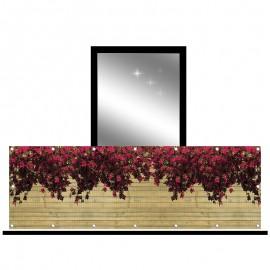 Osłona balkonowa siatka - kwiaty wiszące