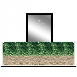 Osłona balkonowa jednostronna - cegła i bluszcz