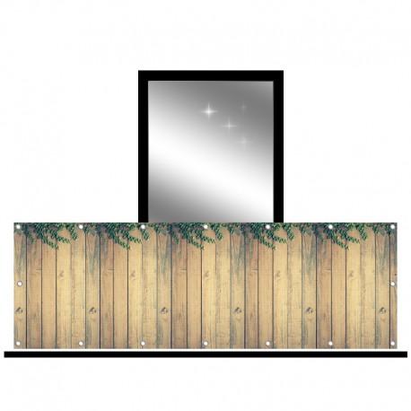 Osłona balkonowa siatka - delikatne pnącza