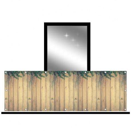 Osłona balkonowa jednostronna - delikatne pnącza