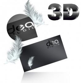Wizytówki jednostronne lakier wybiórczy UV 3D + folia soft touch - aksamitna