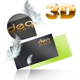 Wizytówki dwustronne złocenie 3D + folia soft touch - aksamitna