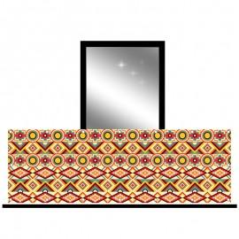 Osłona balkonowa jednostronna - kalejdoskop