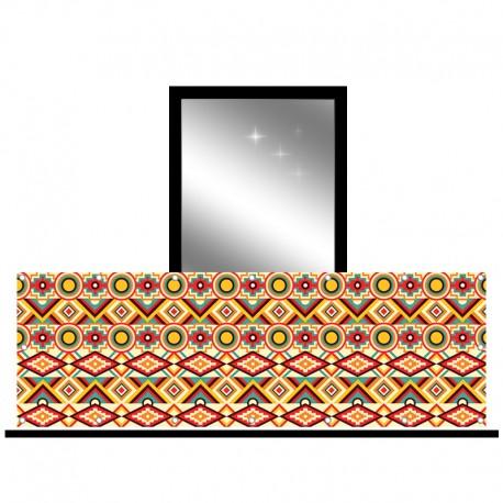 Osłona balkonowa jednostronna - kaleidoskop