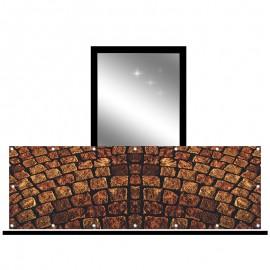 Osłona balkonowa jednostronna - Stara cegła