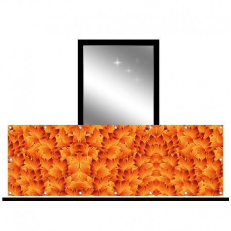 Osłona balkonowa jednostronna - Pomarańczowe liście