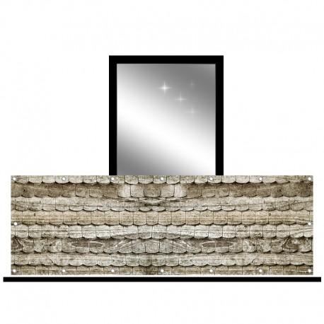 Osłona balkonowa jednostronna - Stara dachówka