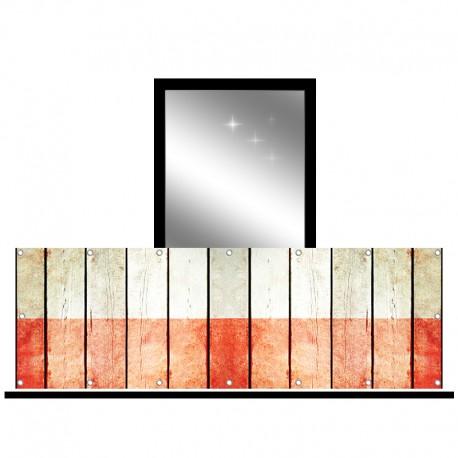 Osłona balkonowa jednostronna - Popękany kamień