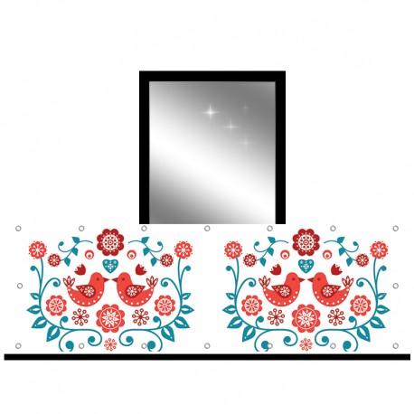 Osłona balkonowa jednostronna - Folklor 2