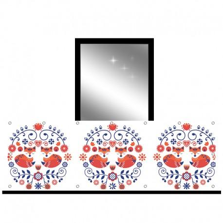 Osłona balkonowa jednostronna - Lisy