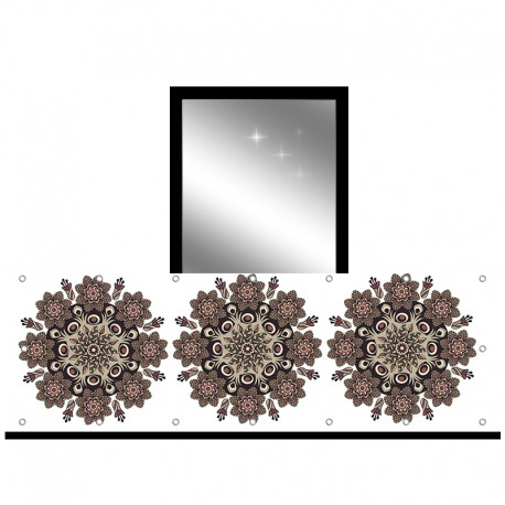 Osłona balkonowa jednostronna - Folklor brązowy
