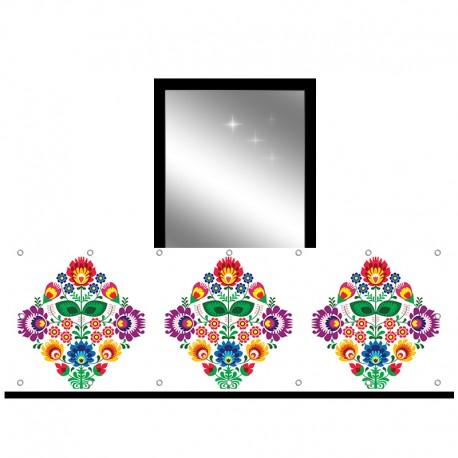 Osłona balkonowa jednostronna - Folk 2