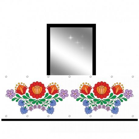 Osłona balkonowa jednostronna - Folk kwiatowy
