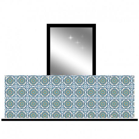 Osłona balkonowa jednostronna - Ornament i mandale
