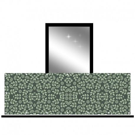 Osłona balkonowa jednostronna - Liście