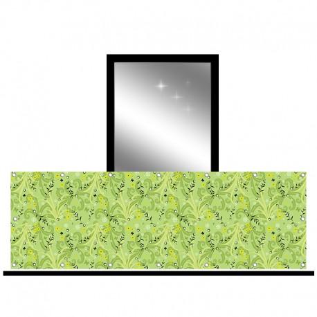 Osłona balkonowa jednostronna - Zielona natura