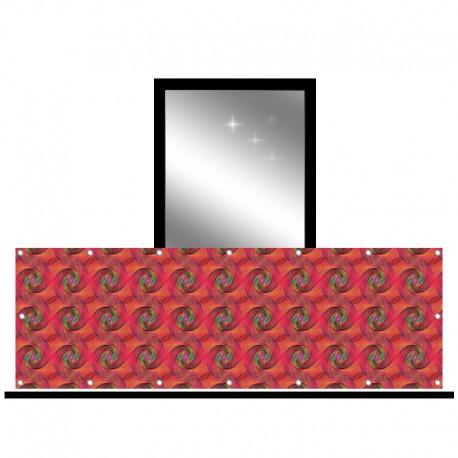 Osłona balkonowa jednostronna - Czerwone ślimaki