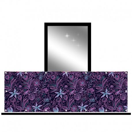 Osłona balkonowa jednostronna - Fioletowe kwiaty