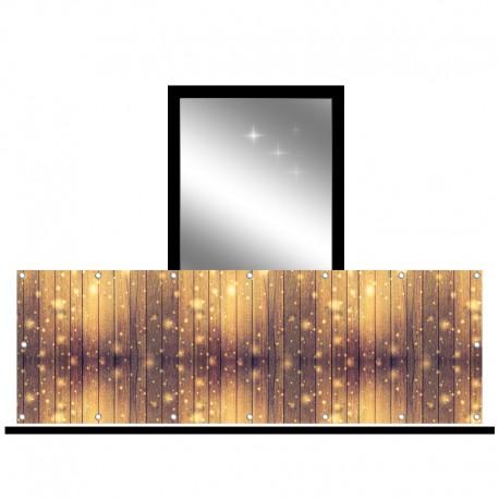 Osłona balkonowa jednostronna - Deski błyszczące